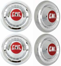 "Chrome ""GMC"" Hub Caps   1955-59   GMC"