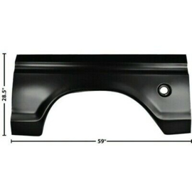 Bedside Wheel Arch Extention  With Hole Left side  1973-79