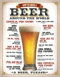 100-111.  How to Order a Beer Around the World Sign