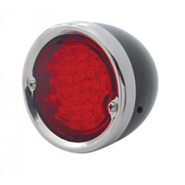 Achterlamp Zwart behuizing/ SS ring.  LED