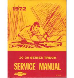 1972  Chevrolet Truck Shop Manual