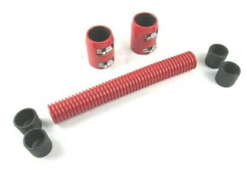 "12"" Stanless steel Radiator Hose Kit  RED"