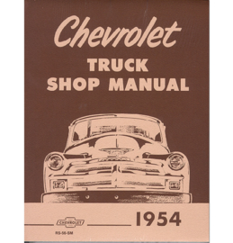 Shop Manual - Chevrolet  1954