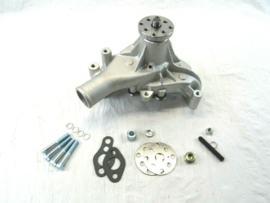 Small Block Chevy Aluminum Long Water Pump Satin