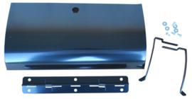 Dashboard deurtje.  Zwart staal. 1955-59