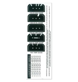 Instrumenten meters stikker set  1955-59