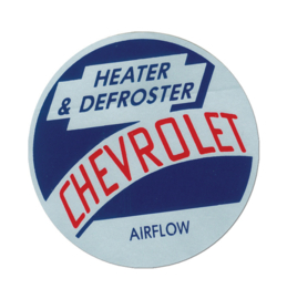 1954-55  Chevrolet truck, Airflow Heater & Defroster Decal