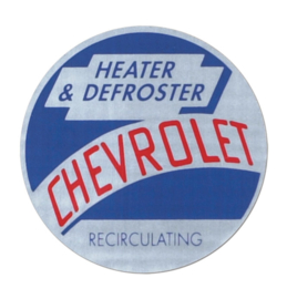 1954-55 Chevrolet Truck Heater & Recirculating Defroster Decal