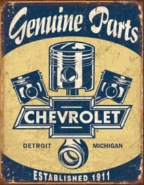 100-106.  Chevrolet Parts Pistons Sign