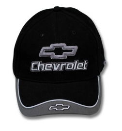 Hat.  -- Chevrolet --  black/Gray