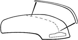 Motorkap Midden Strip.  1947-54.  Chevrolet