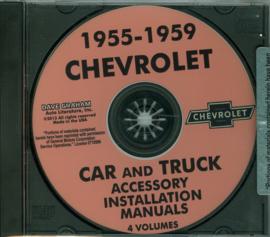 Chevrolet Accessory Installation Manual CD 1955-59  Chevrolet