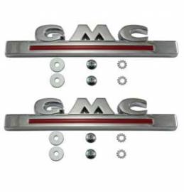 GMC Truck Chrome Hood Side Emblems  1947-54