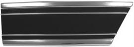 Lower Fender Trim-Rear Right , Black