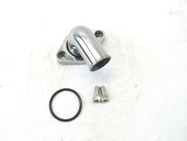 GM/ Chevy 90° Aluminum Swivel Water Neck Polished