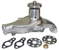 Water Pump, Small Block Chevy, Polished Aluminum