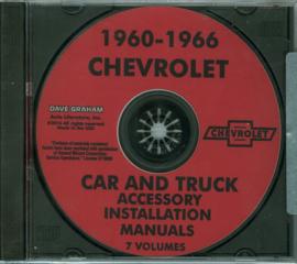 Chevrolet Accessory Installation Manual CD 1960-66 Chevrolet