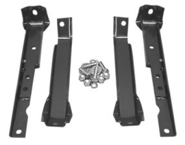 Short bed 4 wheel drive Rear bumper bracket kit, with leaf springs