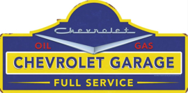 Chevrolet Garage Die-Cut Steel Sign