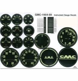 Gauge Decal Kit-GMC  1954-59