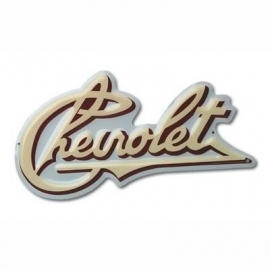100-107.   Chevrolet Early Script Die-Cut Embossed Sign