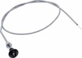 Hand gas knop met kabel. 1955-59  Zwart