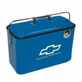 Retro Chevrolet Metal Coolers - Blue