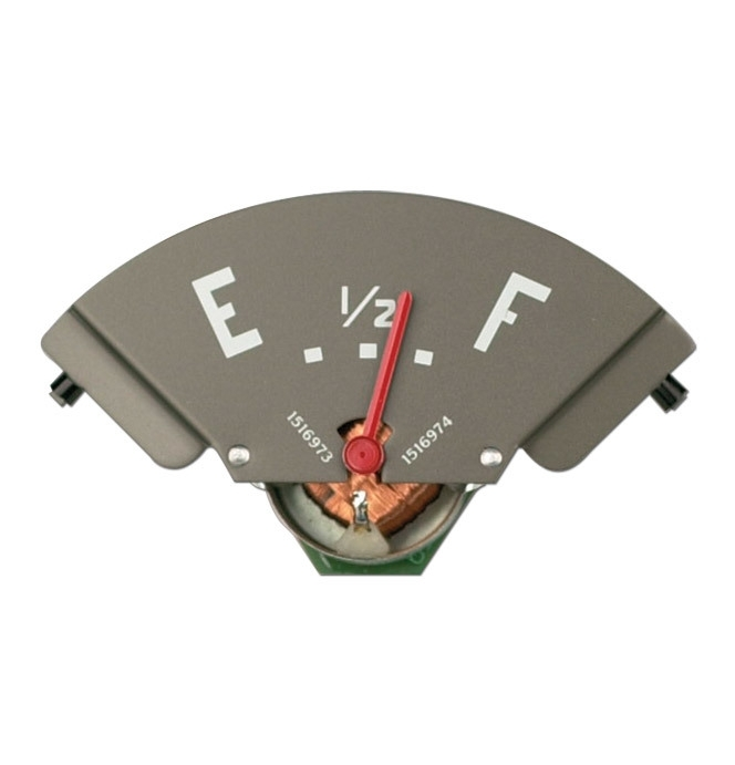 Benzine meter. 1947-50.  Rode naald