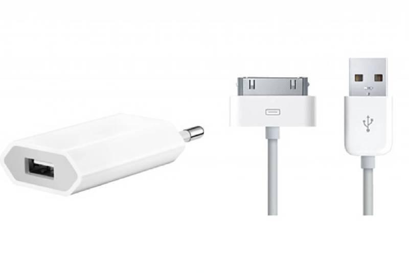 iPhone 3, 4, 4s lader compleet ( 1meter ) USB lader en adapter