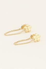 My Jewellery Oorhangers violet & kettinkje