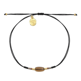 Mint 15 - Glass Stone Bracelet - Black & Brown