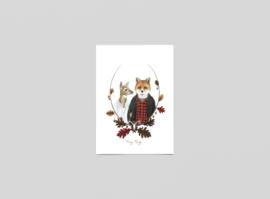 Postkaart De jager en zijn meisje - Ferdy Remijn