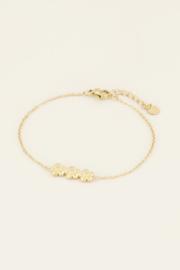 My Jewellery Armband drie bloemetjes