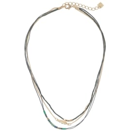 Ketting Indian feather - groen