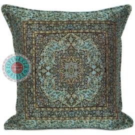 Kussen Mandala little flowers turquoise 45x45