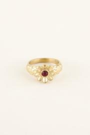 My Jewellery Ring bloem & steentje