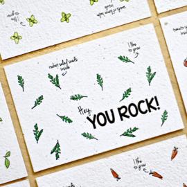 Zaaibare kaart - You rock