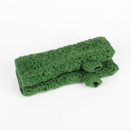 Sjaal met  verhaal handwarmers gras groen