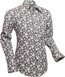 Chenaski overhemd Flowergrid grey