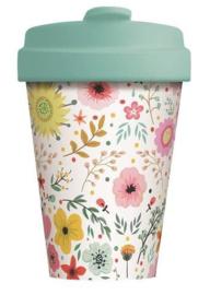 Bamboo cup Prairie Flowers
