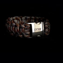STOER Paracord armband Camo Brown