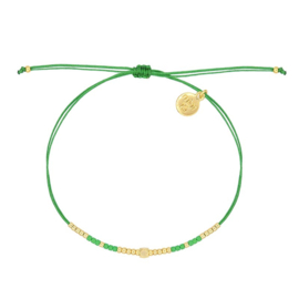 Mint 15 - Tiny Beads & Diamond Bracelet – Green