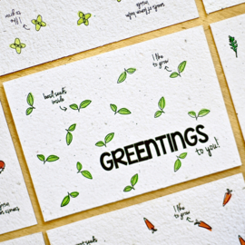 Zaaibare kaart - Greentings to you