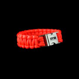 STOER Paracord armband Oranje