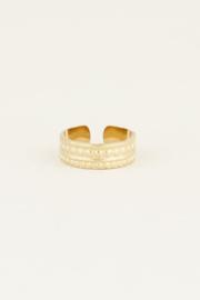 My Jewellery Ring bolletje met streep
