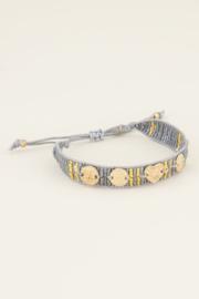 My Jewellery Grijze armband bedels & kraaltjes