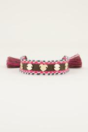 My Jewellery Bohemian armband met bedeltjes bruin