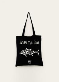 Totebag Inside the fish – zwart