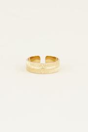 My Jewellery Ring met streepjes