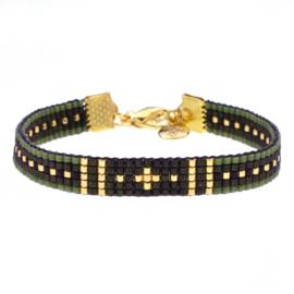 beads armbandje survivor - Army green